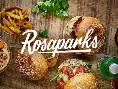 Rosaparks Logo rosaparks customlettering identity brushlettering design type logodesign custom logo typography script handlettering