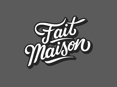 Fait Mason Script branding design lettering identity logodesign customlettering illustration vector brushlettering brush type logo custom typography script handlettering