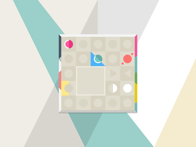 Flat colour puzzle game