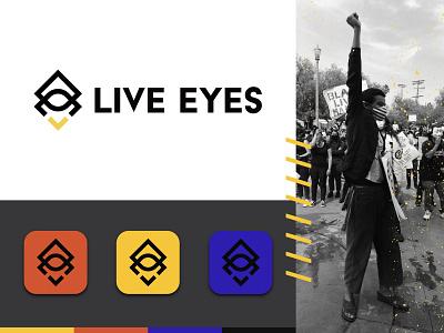 Live Eyes Logo Presentation icon branding ui logo design