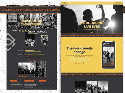 Live Eyes Website website web ux ui logo design branding