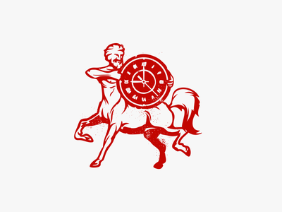 Centaur sign logo restaurant clock horse ancient time centaur