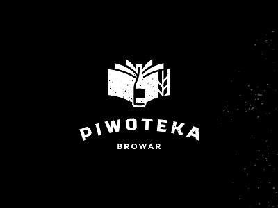 Piwoteka Brewery Logo logo brewery library book bottle beer poland lodz polish Łódź rebrand