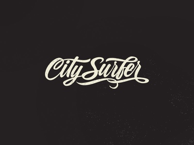 City Surfer łódź poland custom garage bicycles surfer city typo logo lettering typography