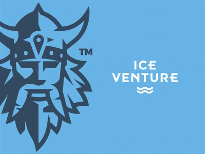 Ice Venture Viking trip travel face typography viking adventure ice iceland