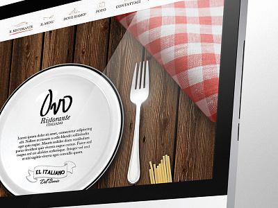 Italian restaurant website website web web design italia paralax html5 css responsive