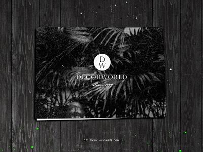 Decorworld projects branding  print graphic design broschure branding logo black wood