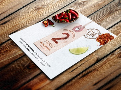 Celebration flyer flyer graphic design print party tequila restaurant