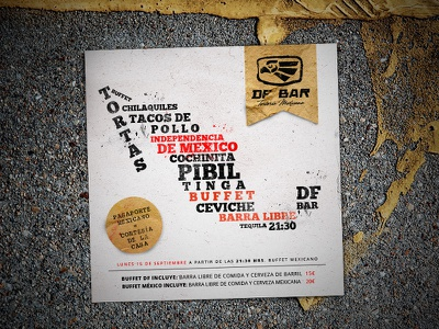 Mexican independence flyer flyer graphic design print party tequila restaurant independence day flier