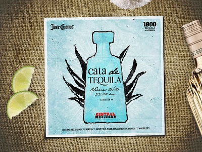 Tequila tasting flyer flyer graphic design print party tequila restaurant independence day flier