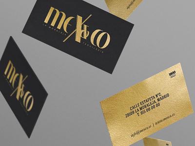 Mex&Co cards cards business cards corporate foil stamp foil print restaurant food porn gold black