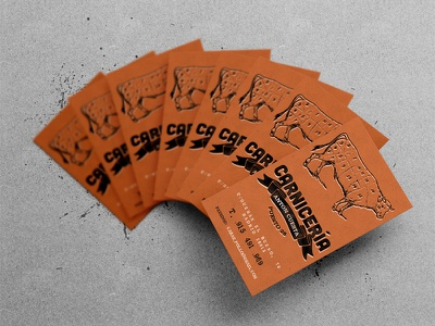 Business cards design #1 print business cards stamp cow chiken beef foodporn madrid