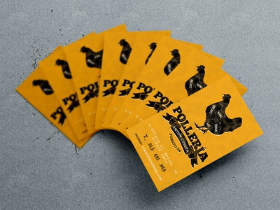Business cards design #2 print business cards stamp cow chiken beef foodporn madrid
