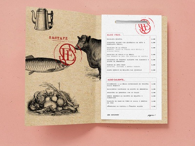 Santa fe Menu food food porn recycled argentina restaurant menu restaurant print