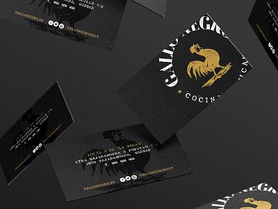 Gallo Negro · Business Card gold black gallo mexican foodporn business card