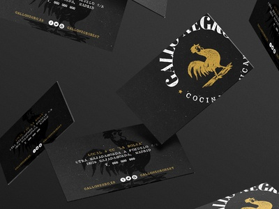 Gallo Negro · Business Card gold black gallo mexican foodporn business card