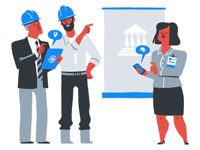 Rundl - Construction Site and Government business app government limited colours illustrations brand
