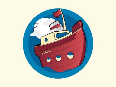Ygritte Boat vector illustrator illustration character boat sea sketch game play child children kids