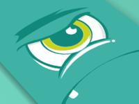Eye angry