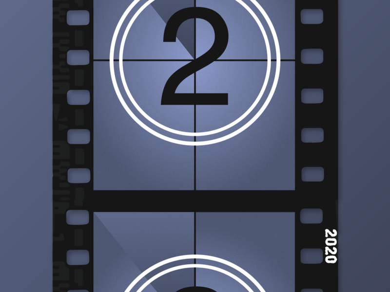 2 Days Until 2020! design 2020 numbers countdown illustrator film