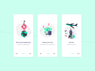Travel App UI illustration mobile ui mobile design mobile intro design ux uiux ui