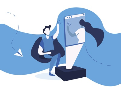 Office 2 vector artwork flet vector art office blue vector procreate pin digital 2d 2d art illustrator illustration drawing draw digital design artwork artist art 2d