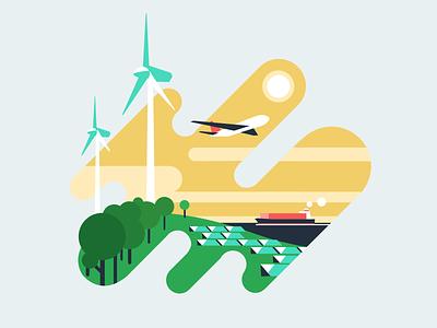 Dot Org Spot Illustration tree cleanenergy future graphic design green illustration vector flat design branding