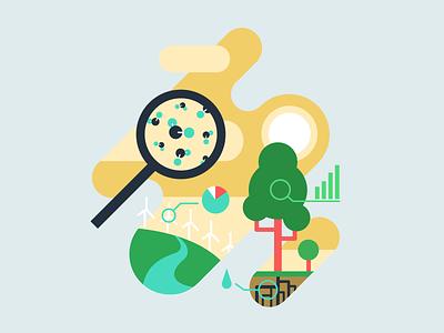Flexport Dot Org Spot Illustration 2 sustainability green illustration vector flat design branding