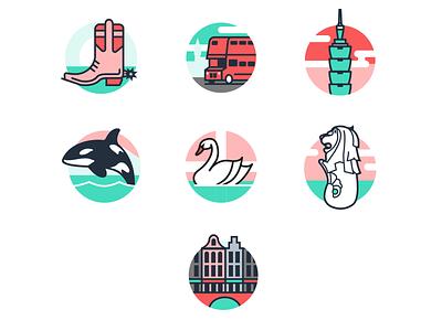 More Flexport Location Icons web icon code logo minimal illustration vector flat design branding
