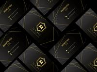 Alfa Male business cards print design brand branding brand design logo black gold business card design
