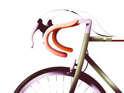 Roaming Tool wallpaper detail modern minimal retro vintage bicycle vector flat illustration