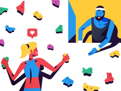 Things & Stuff No. 2 team woman man design character retro minimal illustration vector