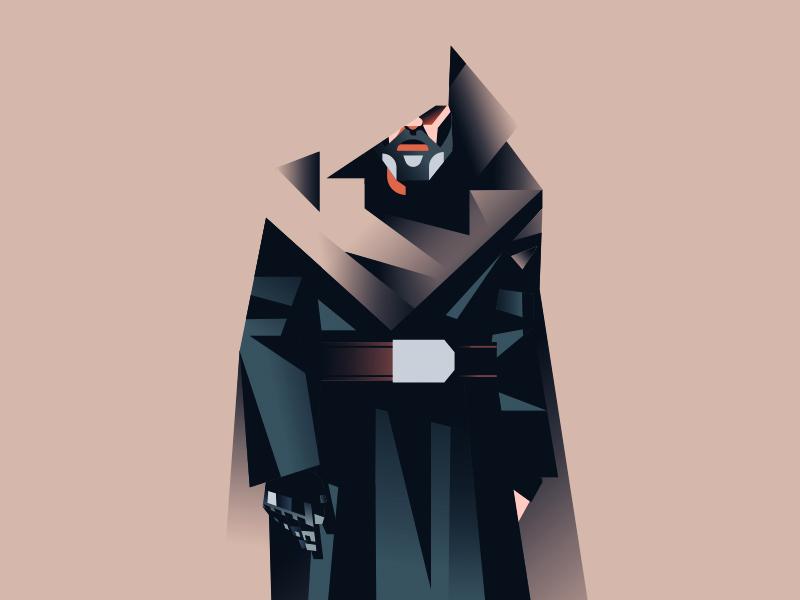 The Last Jedi wars star jedi design character skywalker starwars gradient retro minimal illustration vector