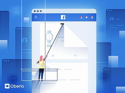 Oberlo Ebook Cover 2 vector illustration cover book facebook ui minimal retro art