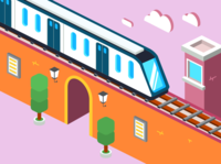 Isometric train