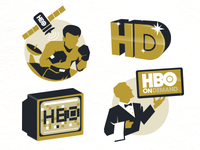 HBO Spot Illustrations