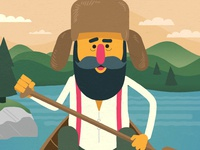 Mainer hillbilly maine muppet explainer character animation illustration