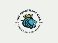The Apartment King - Logo king branding lion illustration design identity logo