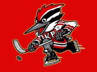 Woodpucker identity sports illustration woodpecker mascot logo hockey