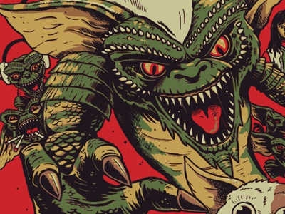 Gremlins WIP derek deal illustration tee shirt gremlins