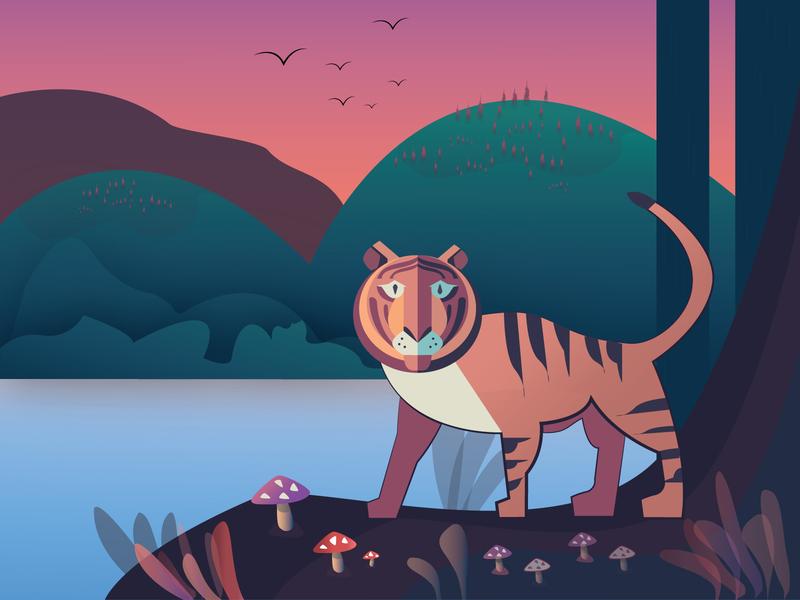 Tiger vector animal art illustration
