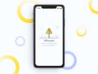 iphone x error message page