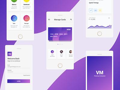 VM Finance shopping upi mobile app finance app vm finance payment card ui ux