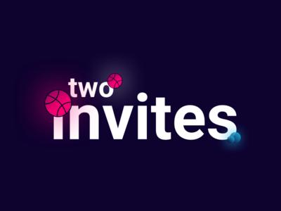 2 Dribbble Invites invite dribbble invites