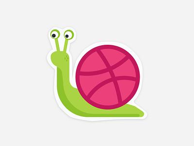 Playoff! Dribbble Sticker sticker mule snail playoff! dribbble sticker