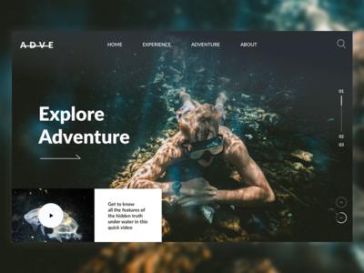 ADVE Landing page adventure sports morden ui concept ui design landing page