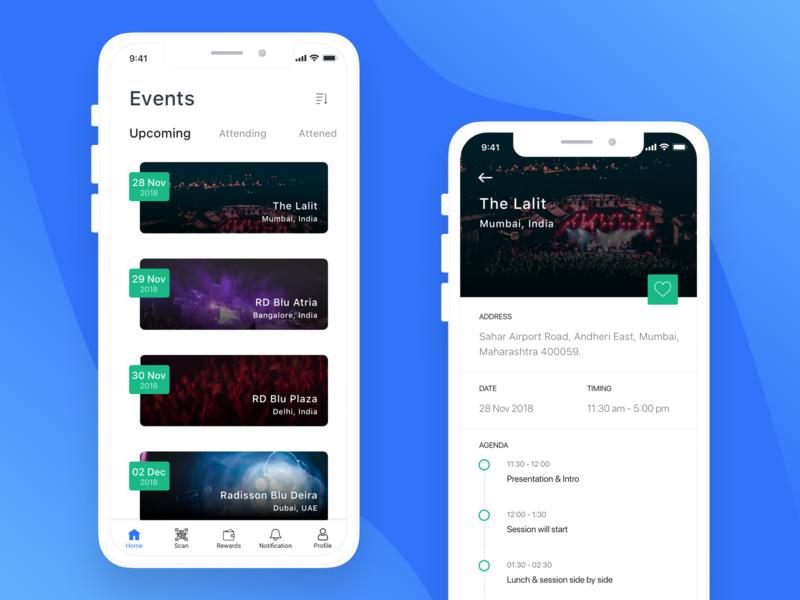 Radisson Events event events app landing page mobile app ui design hotel app
