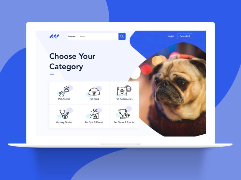 Landing Page morden design website ui design pet food pet accessories pet shop concept landing page