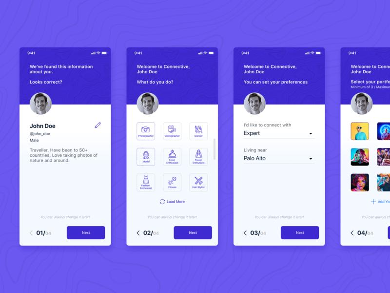 Onboarding landing page design concept mobile app onboarding screen