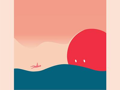 Feels a Little Like Falling sun lockdown illustration